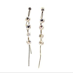 Gold Fashion wild crystal earrings
